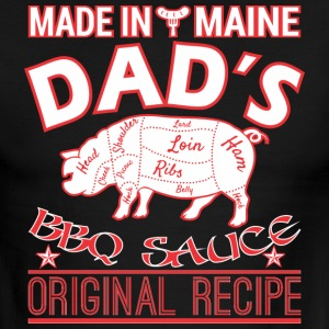 Made In Maine Dads BBQ Sauce Original Recipe - Men's Ringer T-Shirt
