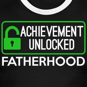 Achievement Unlocked Fatherhood - Men's Ringer T-Shirt