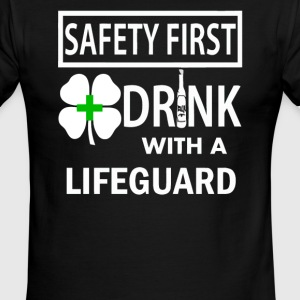 Safety First Drink with a Lifeguard - Men's Ringer T-Shirt
