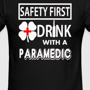 Safety First Drink with a Paramedic - Men's Ringer T-Shirt