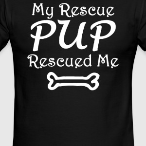 My Rescue Pup Dog Rescue Me - Men's Ringer T-Shirt