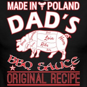 Made In Poland Dads BBQ Sauce Original Recipe - Men's Ringer T-Shirt