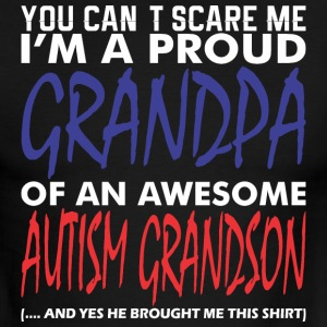 Im A Proud Grandpa Of An Awesome Autism Grandson - Men's Ringer T-Shirt