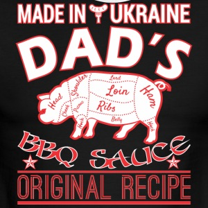 Made In Ukraine Dads BBQ Sauce Original Recipe - Men's Ringer T-Shirt