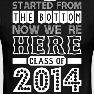 Started From Bottom Now We Are Here Class Of 2014 - Men's Ringer T-Shirt