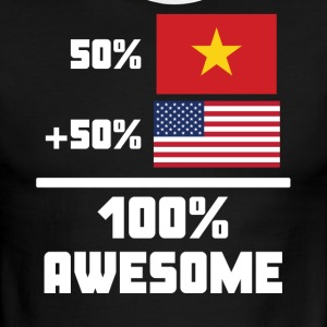 50% Vietnamese 50% American 100% Awesome Flag - Men's Ringer T-Shirt