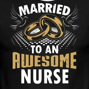 Married To An Awesome Nurse - Men's Ringer T-Shirt