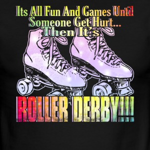 FUN AND GAMES ROLLER DERBY SHIRT - Men's Ringer T-Shirt