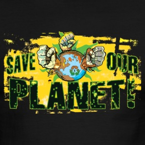 Save Our Planet - Our Earth - Men's Ringer T-Shirt
