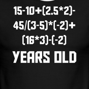 15 Years Old Algebra Equation 15th Birthday - Men's Ringer T-Shirt