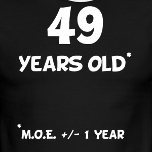 49 Plus Or Minus 1 Year Funny 50th Birthday - Men's Ringer T-Shirt
