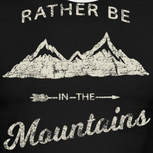 RATHER BE IN THE MOUNTAINS - Men's Ringer T-Shirt