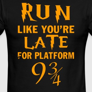 PLATFORM 9 Gold - Men's Ringer T-Shirt
