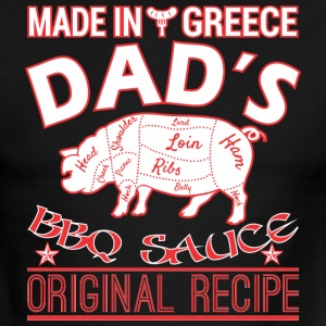 Made In Greece Dads BBQ Sauce Original Recipe - Men's Ringer T-Shirt