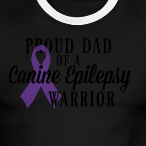 Proud Dad of a Canine Epilepsy Warrior - Men's Ringer T-Shirt
