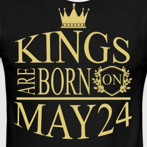 Kings are born on May 24 - Men's Ringer T-Shirt