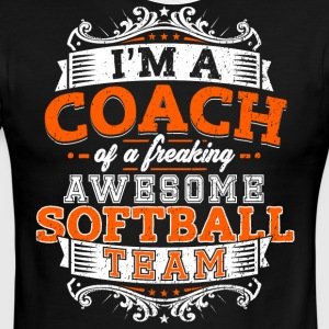 I'm a coach of a freaking awesome softball team - Men's Ringer T-Shirt