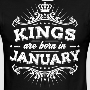 Kings Are Born In January Birthday Shirt - Men's Ringer T-Shirt