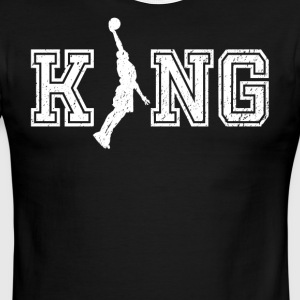 King of bball graphic basketball shirt - Men's Ringer T-Shirt