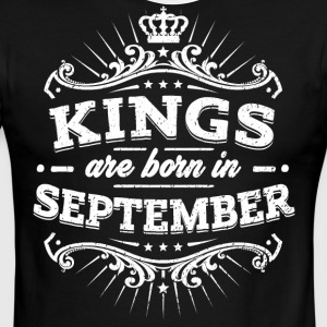 Kings Are Born In September Birthday Shirt - Men's Ringer T-Shirt
