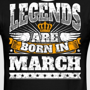 Legends Are Born In March Birthday Shirt - Men's Ringer T-Shirt