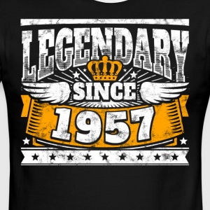 Legend Birthday: Legendary since 1957 birth year - Men's Ringer T-Shirt