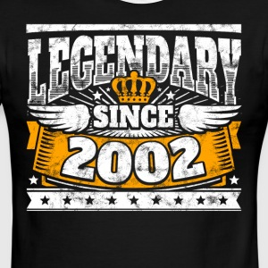 Legend Birthday: Legendary since 2002 birth year - Men's Ringer T-Shirt