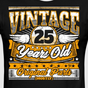 Funny 25th Birthday Shirt: Vintage 25 Years Old - Men's Ringer T-Shirt