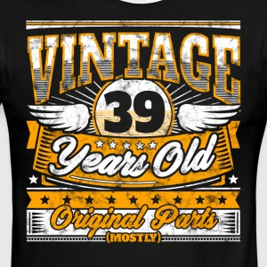 Funny 39th Birthday Shirt: Vintage 39 Years Old - Men's Ringer T-Shirt