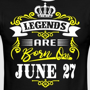 Legends are born on June 27 - Men's Ringer T-Shirt