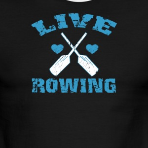 Live Love Rowing - Men's Ringer T-Shirt