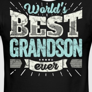 Cool family gift shirt: World's best grandson ever - Men's Ringer T-Shirt