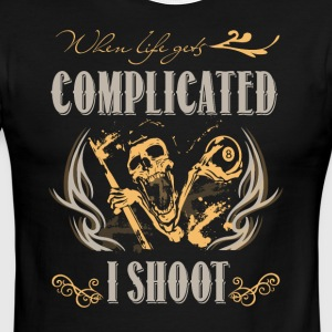 When Life Gets Complicated I Shoot T Shirt - Men's Ringer T-Shirt