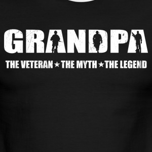 Veteran Grandpa The Man The Myth The Legend - Men's Ringer T-Shirt