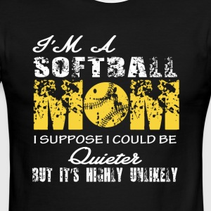 I'm A Softball Mom T Shirt - Men's Ringer T-Shirt