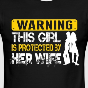 This Girl Is Protected By Her Wife T Shirt - Men's Ringer T-Shirt