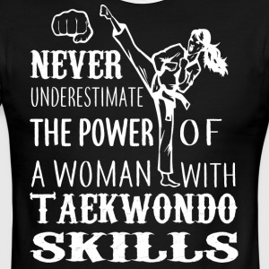 A Woman With Taekwondo Skills T Shirt - Men's Ringer T-Shirt