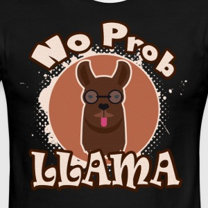 NO PROB LLAMA T-SHIRT - Men's Ringer T-Shirt
