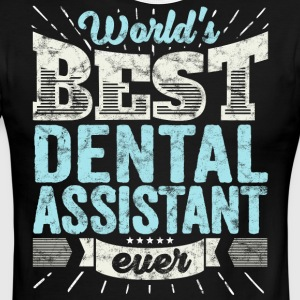 Worlds Best Dental Assistant Ever Funny Gift - Men's Ringer T-Shirt
