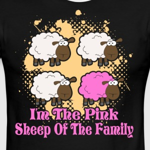 I'M THE PINK SHEEP OF THE FAMILY SHIRT - Men's Ringer T-Shirt