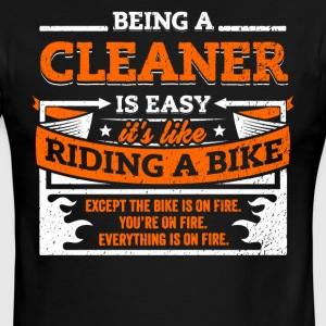 Cleaner Shirt: Being A Cleaner Is Easy - Men's Ringer T-Shirt