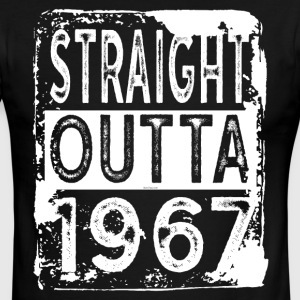 Funny 50th Birthday Gift: Straight Outta 1967 - Men's Ringer T-Shirt