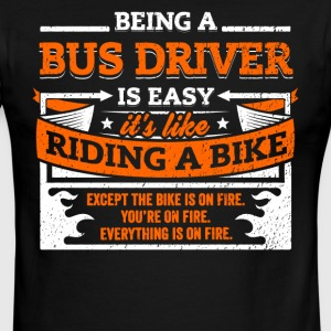 Bus Driver Shirt: Being A Bus Driver Is Easy - Men's Ringer T-Shirt