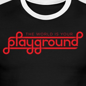 The World Is Your Playground - Men's Ringer T-Shirt
