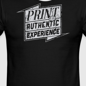 Print is an authentic experience - Men's Ringer T-Shirt