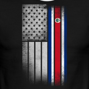 Costa Rican American Flag - Men's Ringer T-Shirt