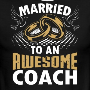 Married To An Awesome Coach - Men's Ringer T-Shirt
