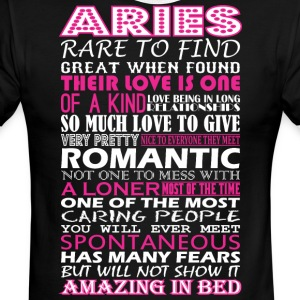 Aries Rare To Find Romantic Amazing To Bed - Men's Ringer T-Shirt