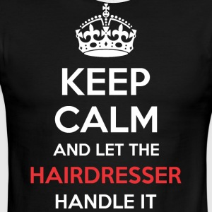 Keep Calm And Let Hairdresser Handle It - Men's Ringer T-Shirt