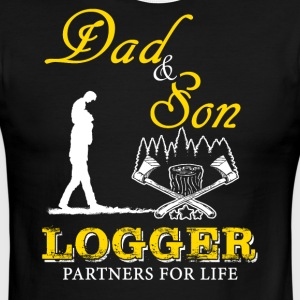 Dad and Son Logger T-Shirt - Men's Ringer T-Shirt